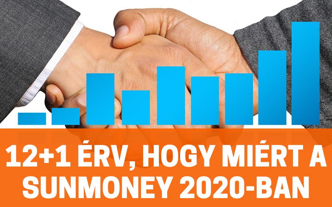 12+1 érv, hogy 2020-ban miért a Sunmoney a legjobb üzlet a számodra!